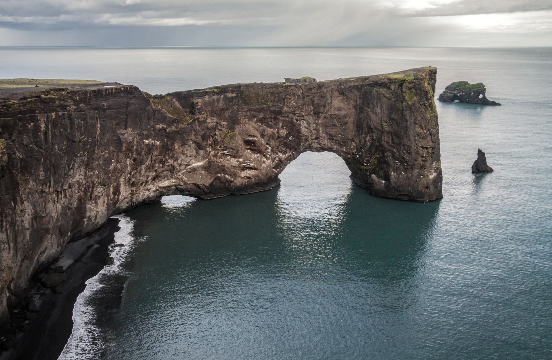 Dyrholaey Peninsula with view of ocean in Iceland - stop in 24 hour Iceland itinerary