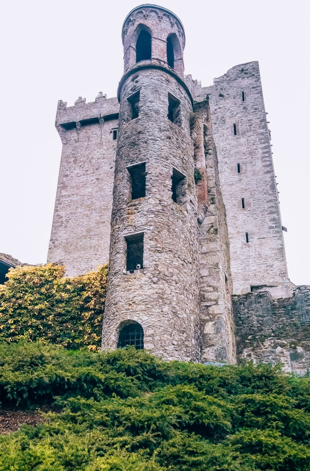 Exterior of Blarney Castle sitting atop a small hill
