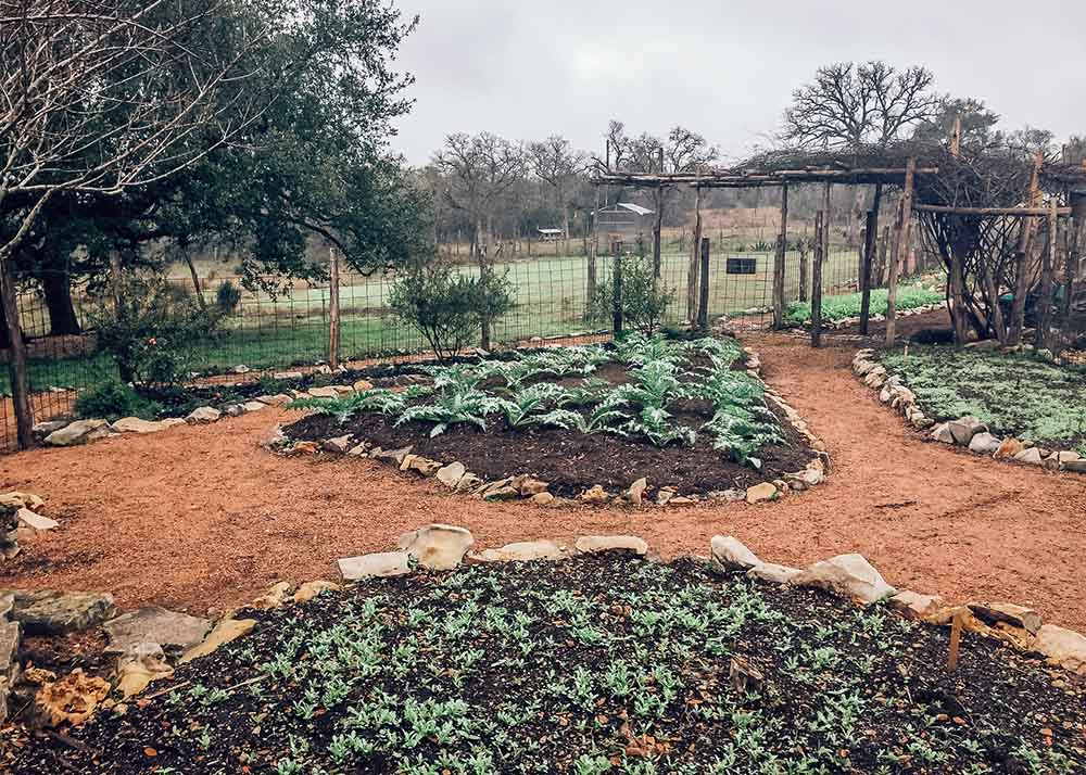 Garden at Sage Hill Inn & Spa in Texas Hill Country