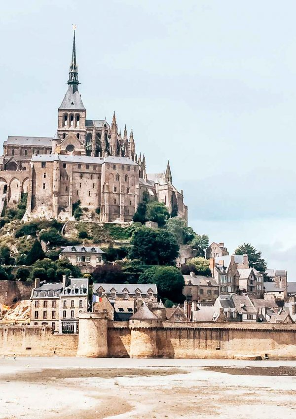 Tidal island of Mont Saint-Michel in France