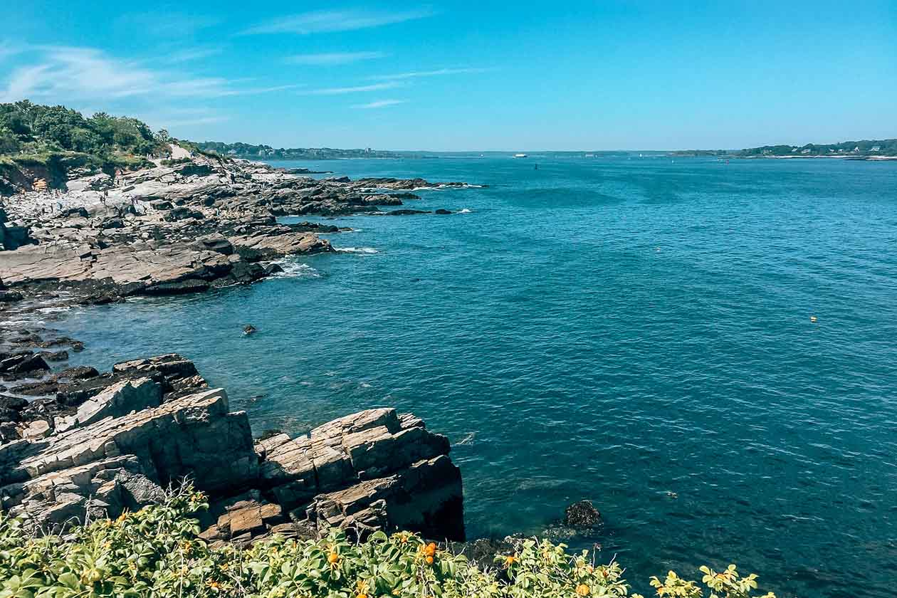 Rocky coastline in Portland, Maine