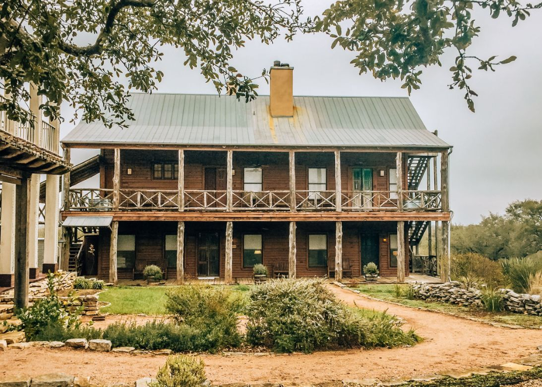 Exterior of Sage Hill Inn & Spa in Texas Hill Country