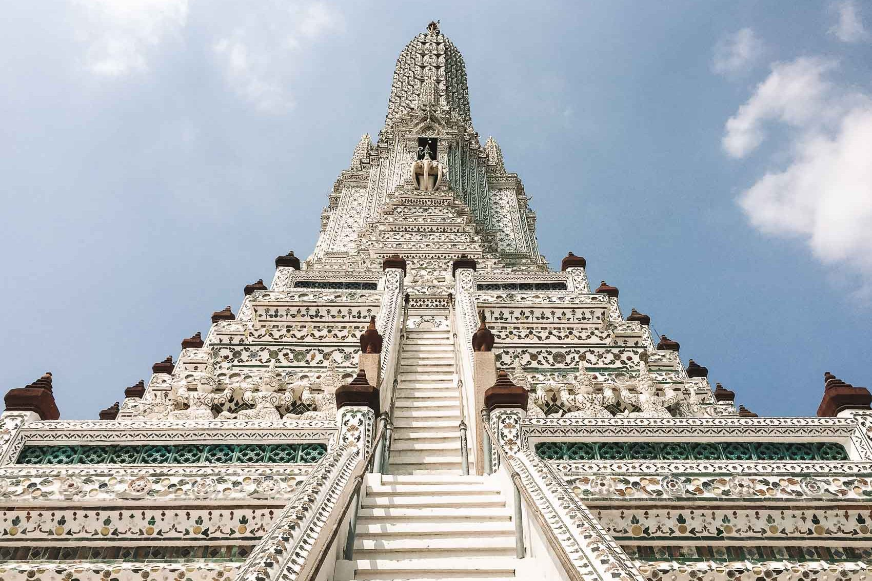 Temple with many steps in Bangkok Thailand - bucket list travel