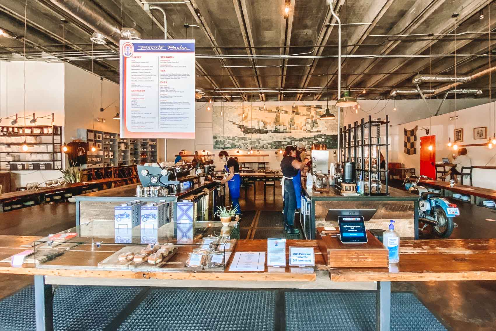 Interior of Barista Parlor Coffee shop in east nashville tennessee - bucket list travel