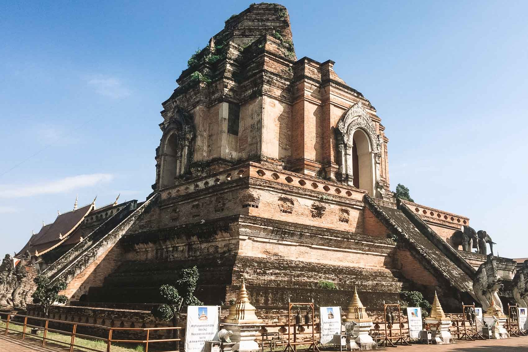 Wat Chedi Luangg Temple in Chiang Mai Thailand