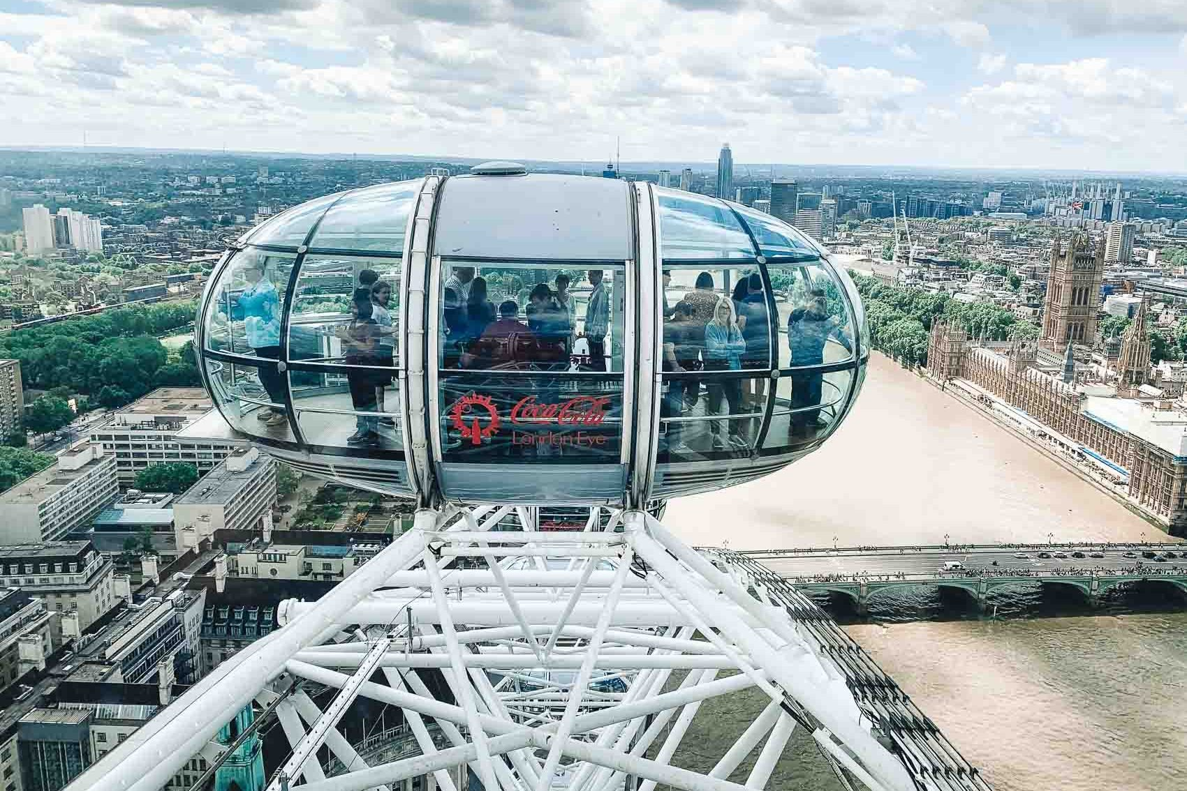 London eye with a view of Westminster - bucket list travel