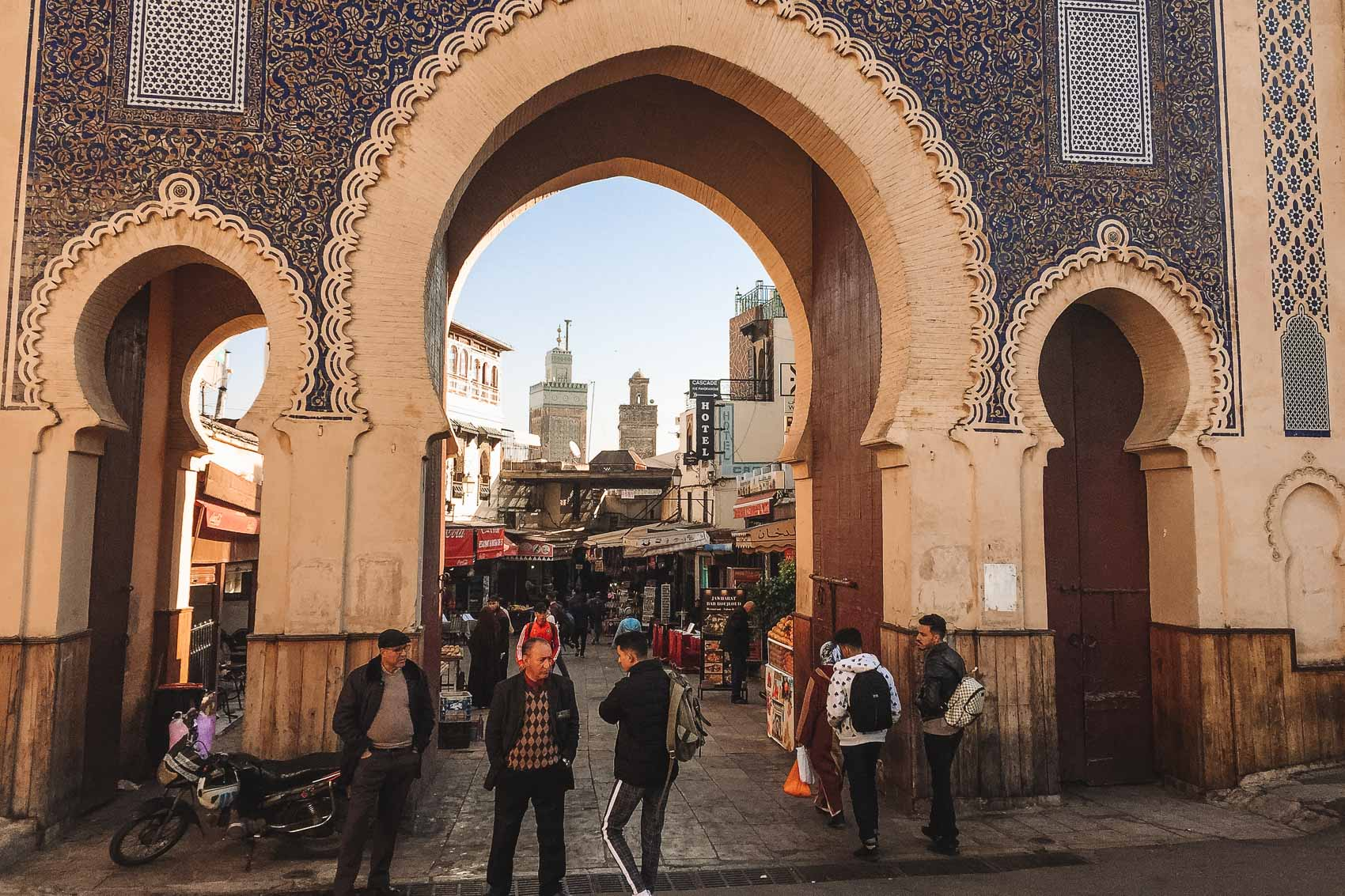 Gates into the medina in Fes Morocco - bucket list travel
