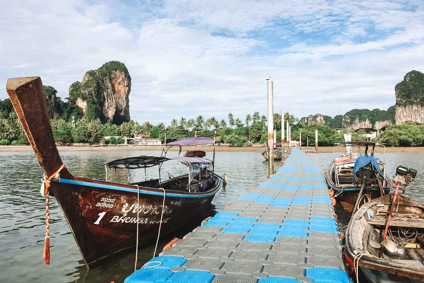 floating dock at Railay Beach in Thailand - bucket list travel